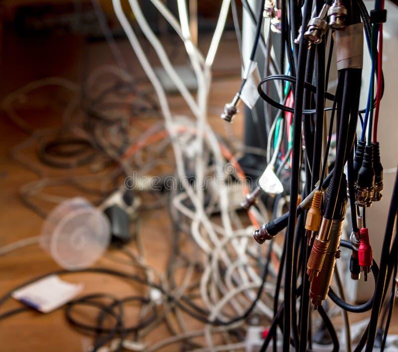 Lío del cable fotos de archivo