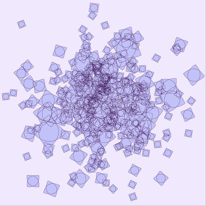 Lío violeta abstracto ilustración del vector