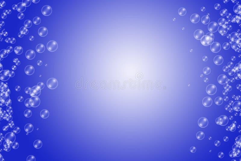 Líquido brilhante da bolha no fundo azul moderno foto de stock royalty free