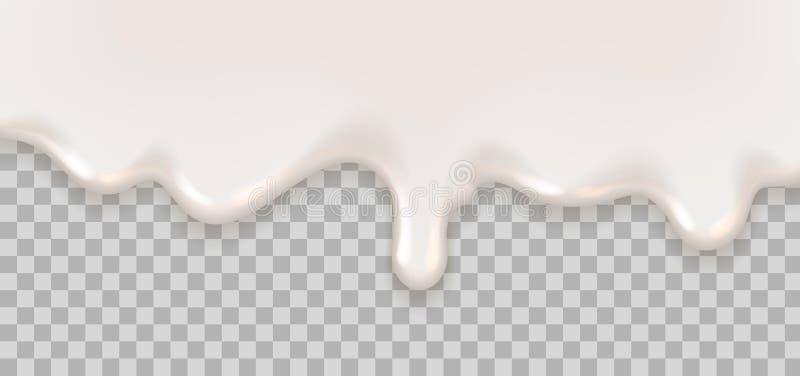Líquido cremoso do iogurte ilustração royalty free