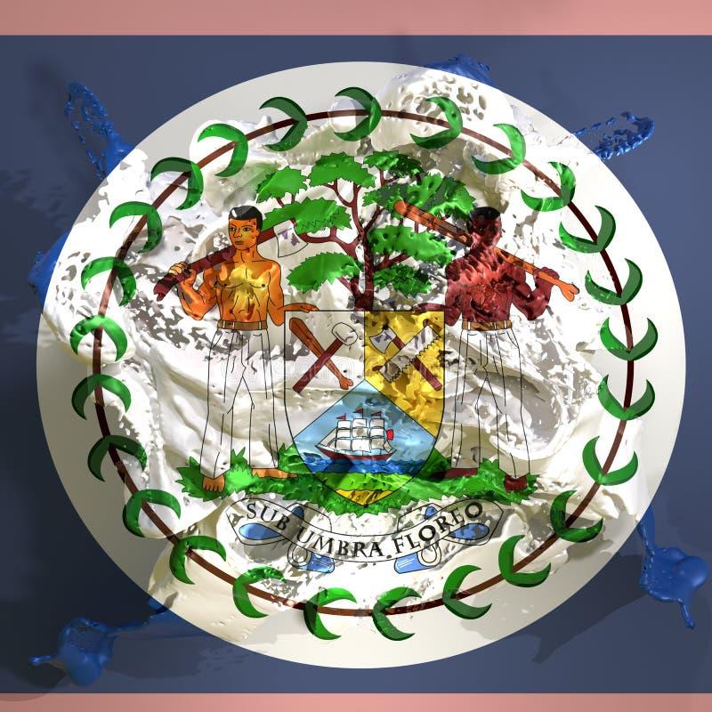 Líquido da bandeira de Belize ilustração do vetor