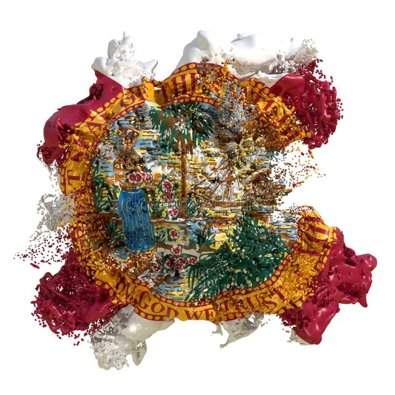 Líquido da bandeira de Florida ilustração royalty free