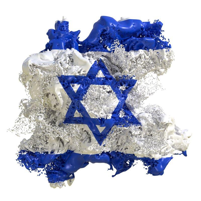 Líquido da bandeira de Israel ilustração royalty free