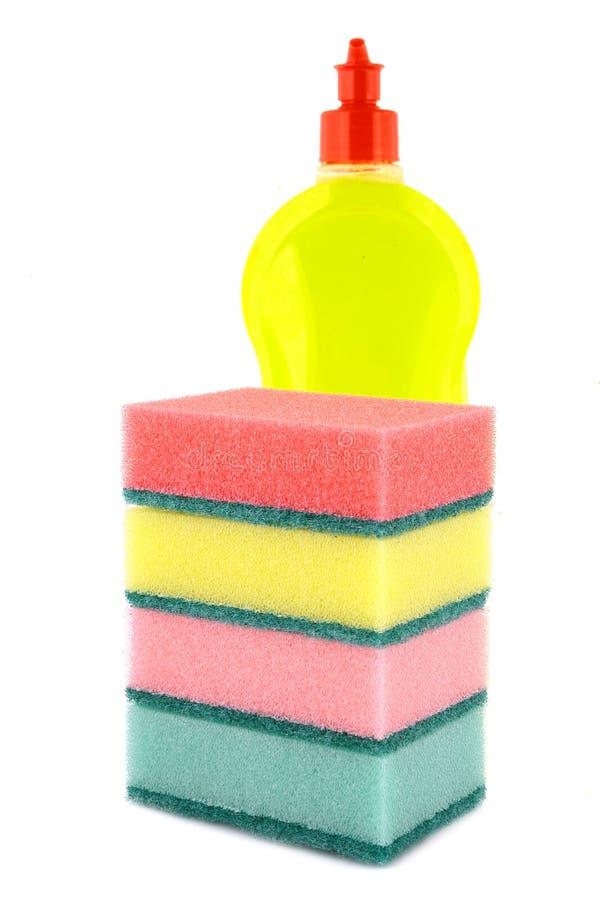 Líquido da lavagem da louça. imagem de stock royalty free