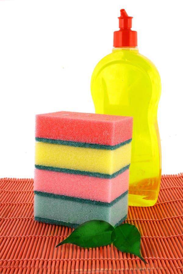 Líquido da lavagem da louça. fotos de stock royalty free