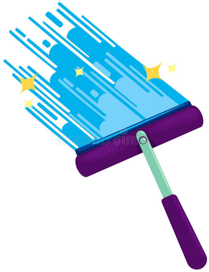 Líquido de limpeza de indicador ilustração stock