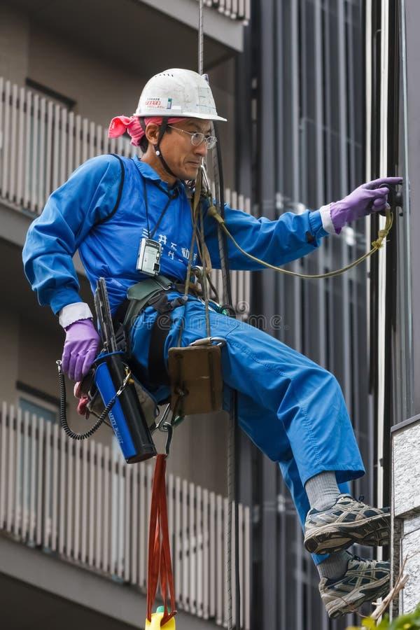 Líquido de limpeza de janela japonês no Tóquio foto de stock