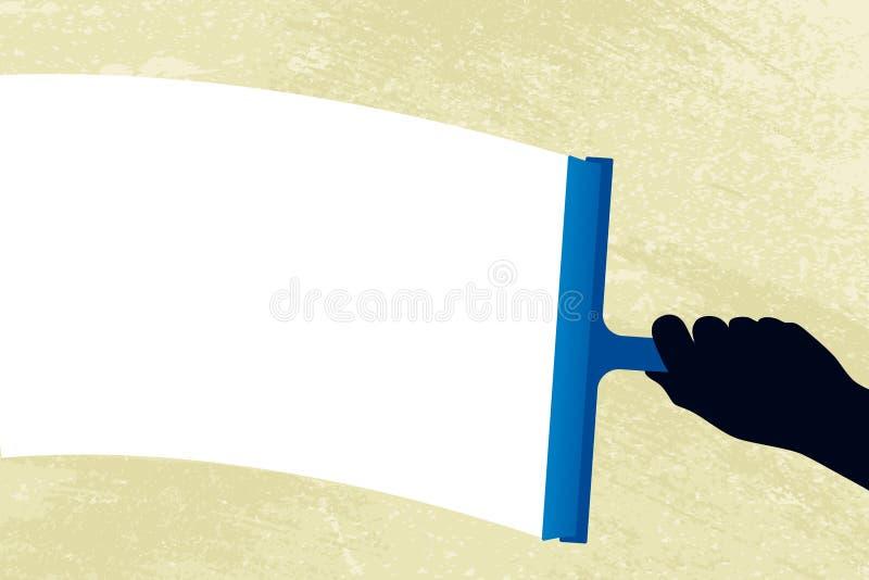 Líquido de limpeza de vidro (vetor) ilustração do vetor