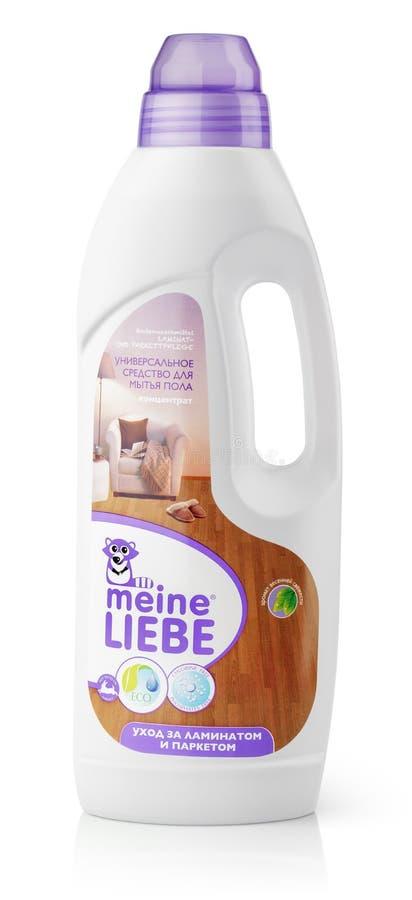 Líquido de limpeza do assoalho de Meine Liebe imagem de stock royalty free