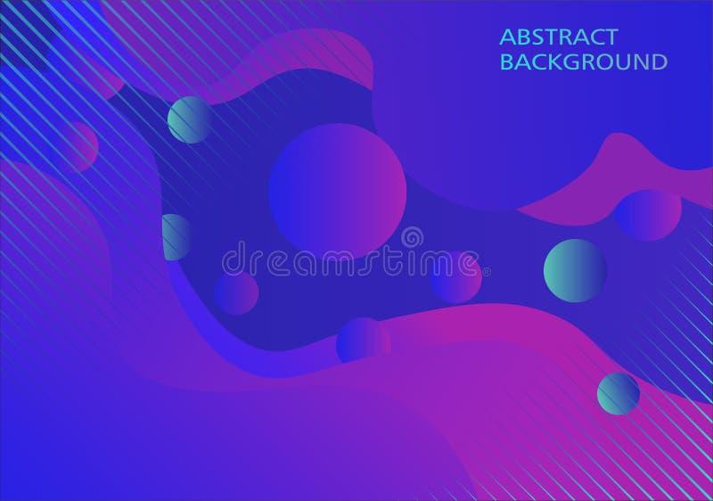 Líquido e fundo modernos dinâmicos do círculo ilustração stock