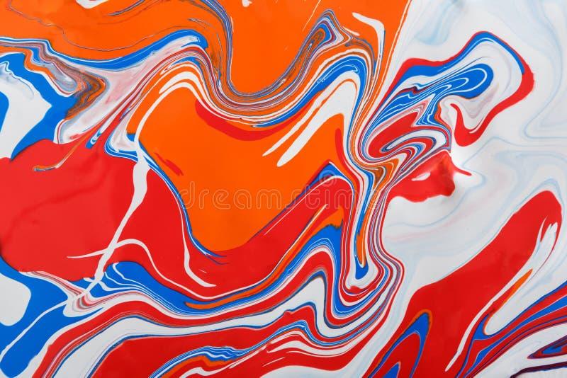 Líquido que marmoreia o fundo da pintura acrílica Textura fluida do sumário da pintura imagens de stock royalty free