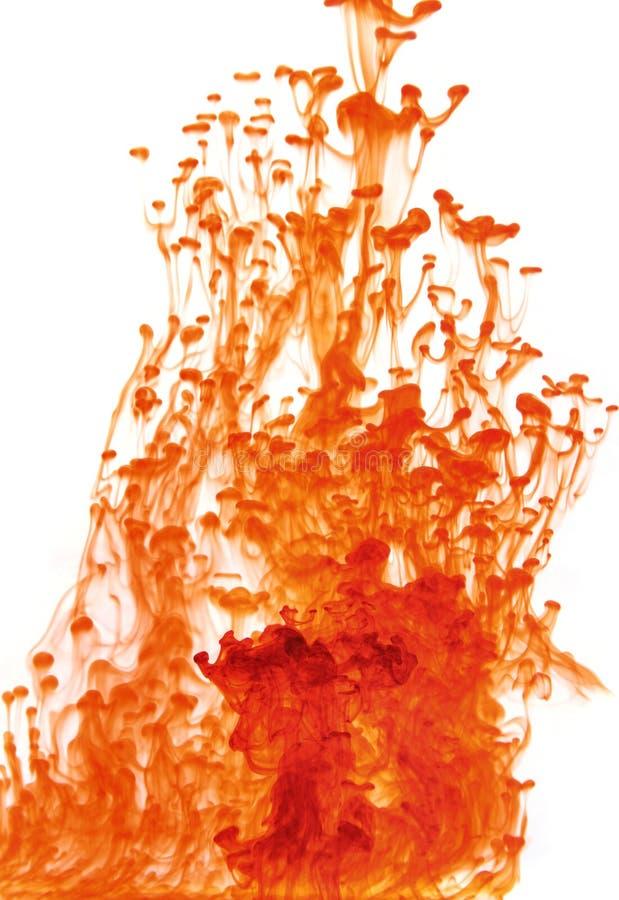 Líquido rojo abstracto fotografía de archivo