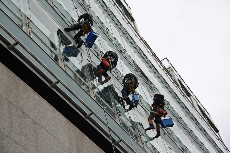 Líquidos de limpeza de janela imagens de stock royalty free