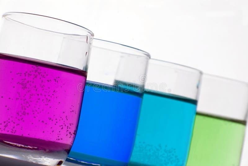 Líquidos químicos imagens de stock