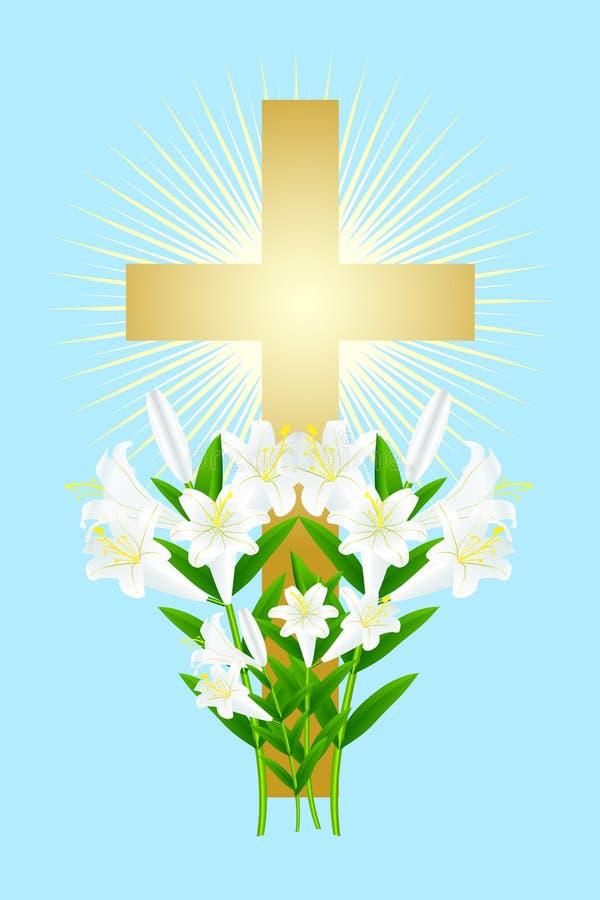 Lírio branco 7 de Easter ilustração royalty free