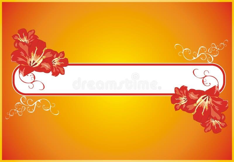Lírio. Elementos decorativos florais ilustração royalty free