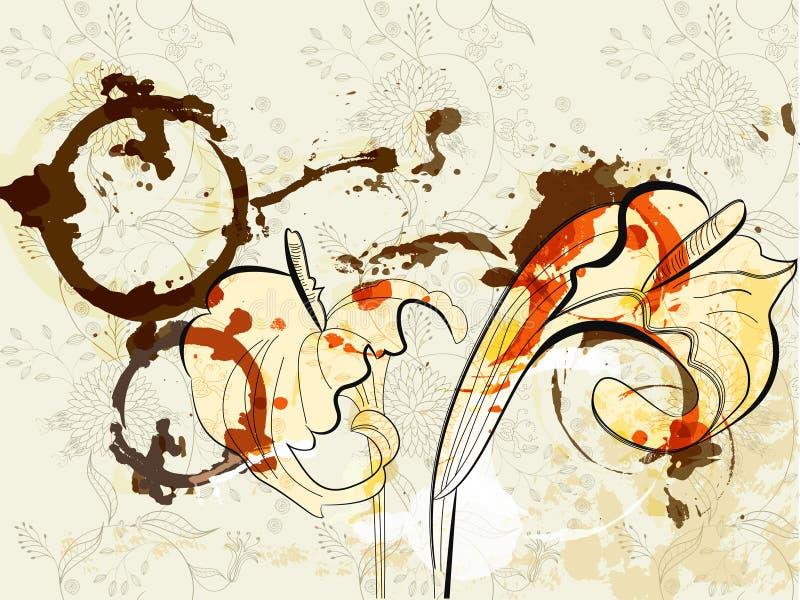 Lírios de calla bonitos ilustração do vetor