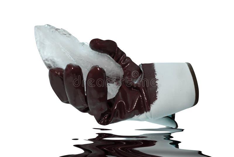 Lód chwytów rękawiczkowi bloki zdjęcia stock