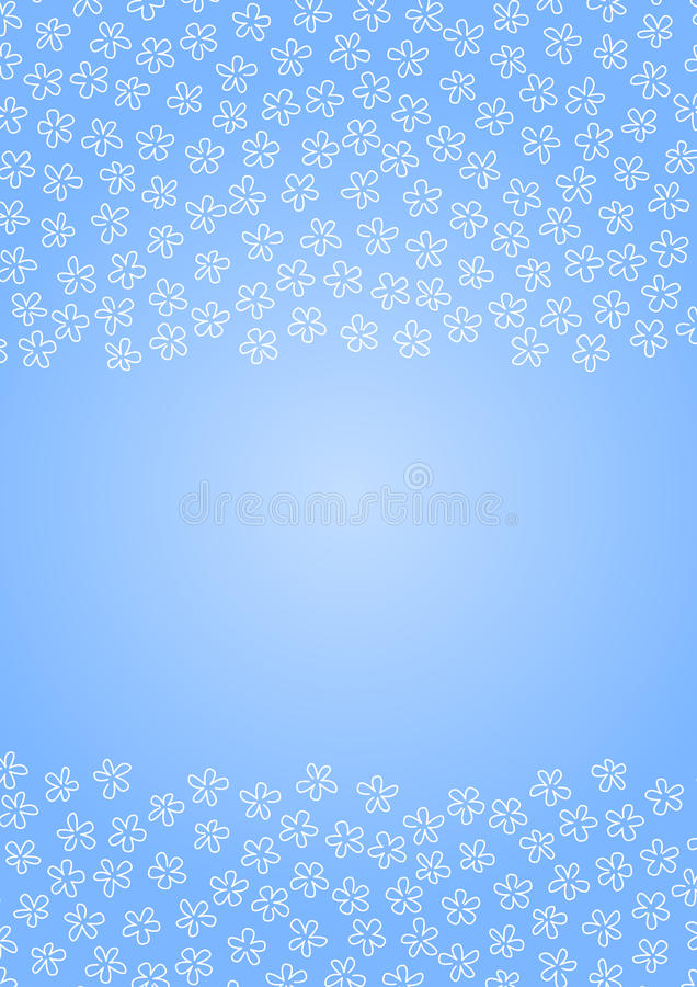 Lód kwitnie na niebieskiego nieba tle royalty ilustracja