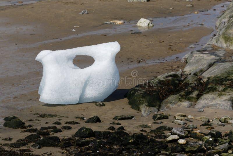 Lód na beaach fotografia royalty free