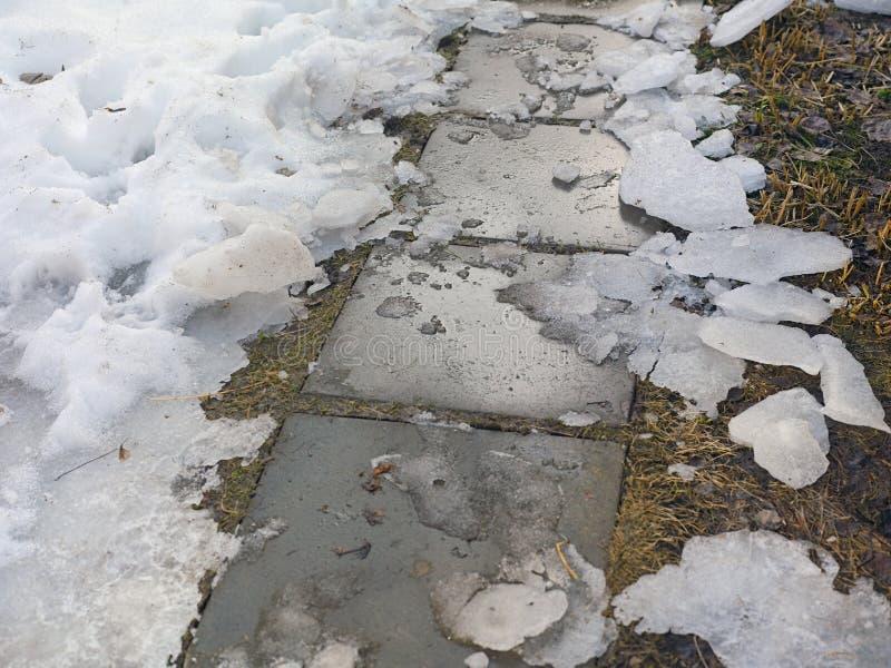 Lód Na Footpath zdjęcia royalty free
