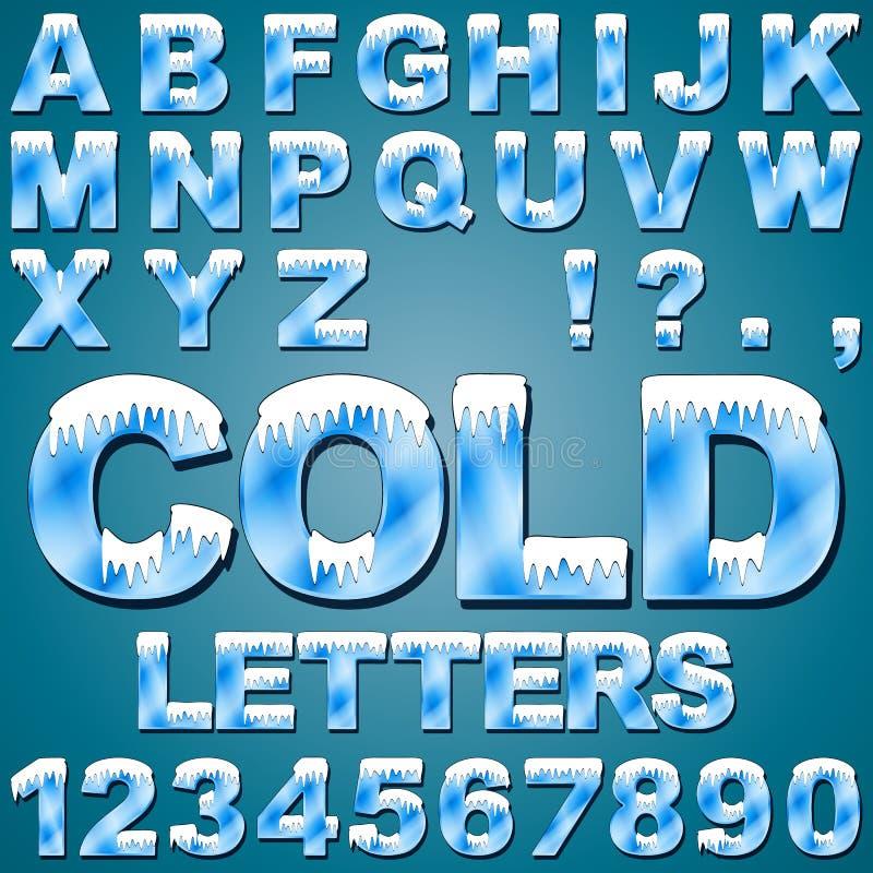 Lód - zimno listy ilustracja wektor