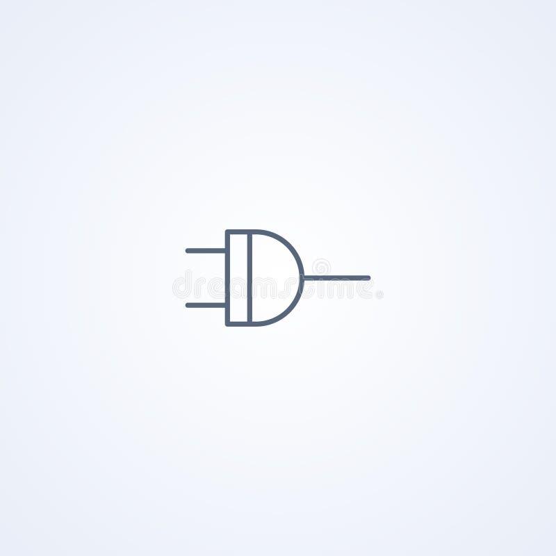Lógica NAND, ni, la mejor línea gris símbolo del vector ilustración del vector