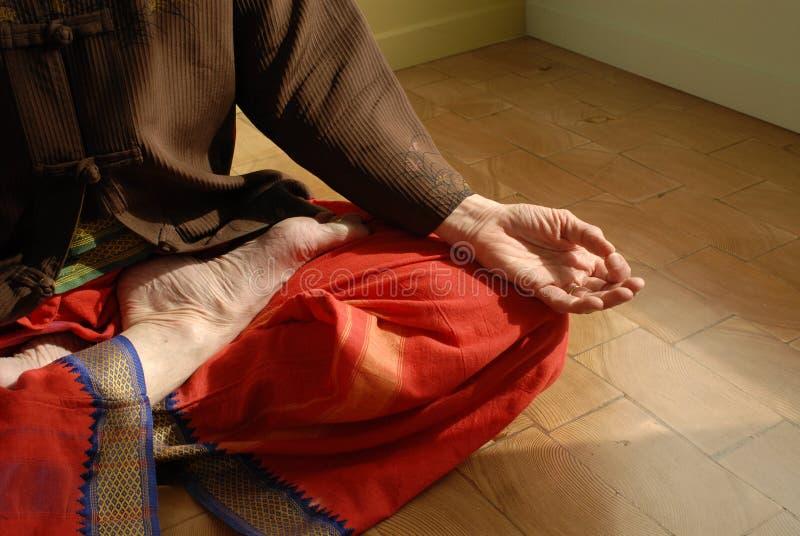 Lótus da ioga fotografia de stock royalty free