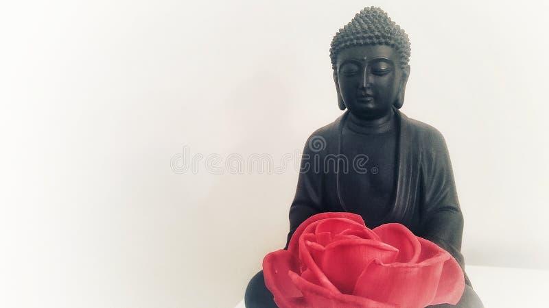 Lótus da posição de Buda ilustração royalty free