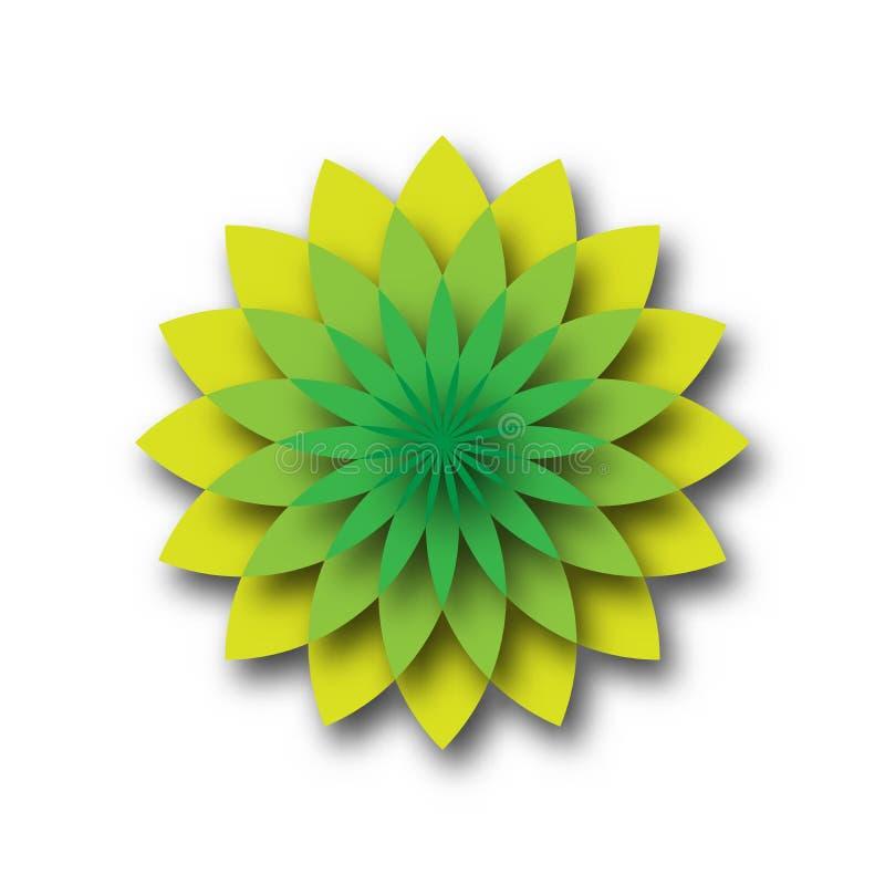 Lótus verdes - símbolo da ioga, do bem-estar, da beleza e dos termas Ilustração do vetor ilustração royalty free