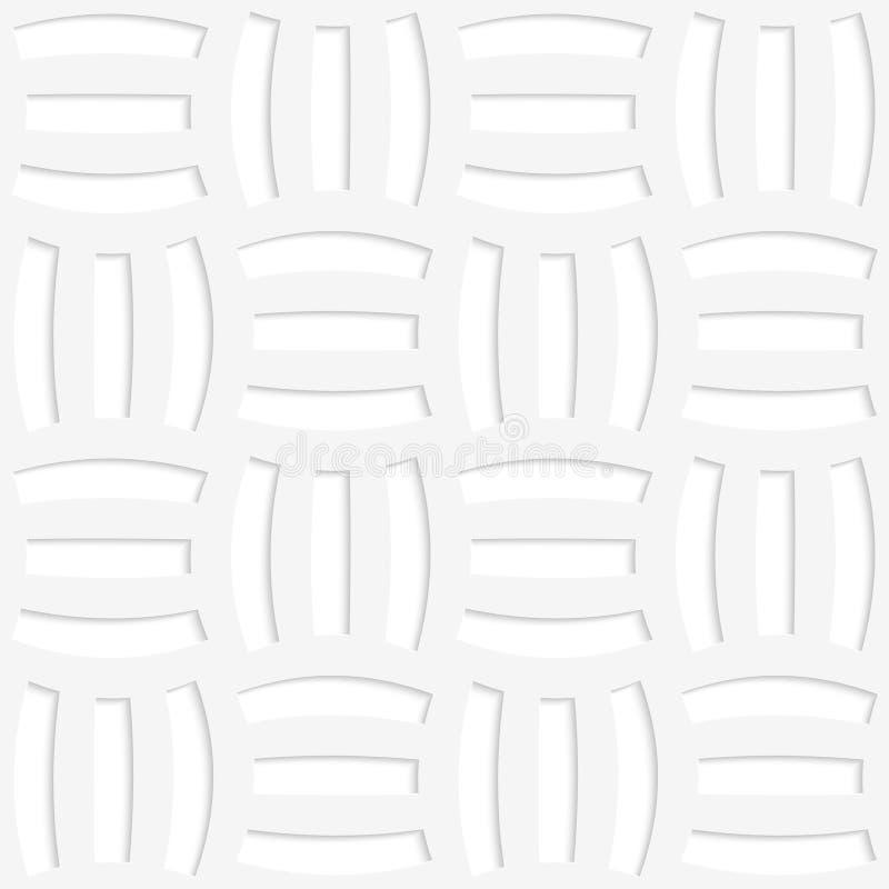 Löcher des Weißbuches 3D drei stock abbildung
