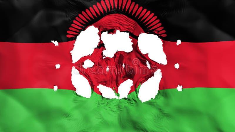 Löcher in Malawi-Flagge vektor abbildung