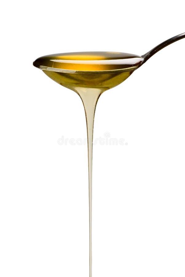 Löffel des Honigs stockfotografie