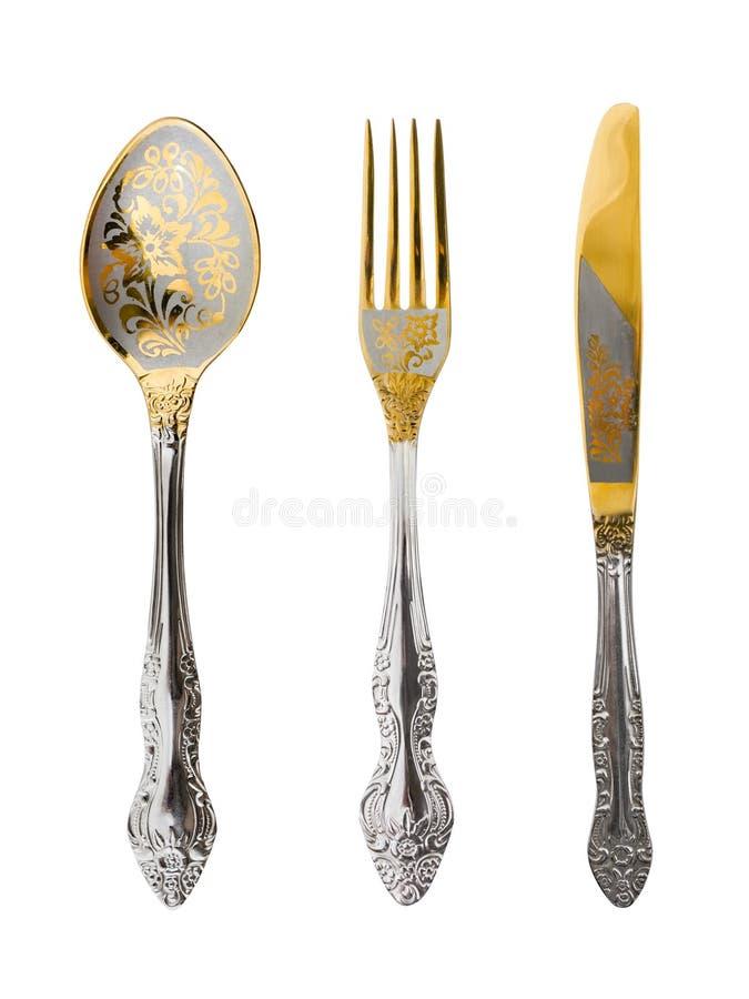 Löffel, Gabel und Messer lizenzfreies stockbild