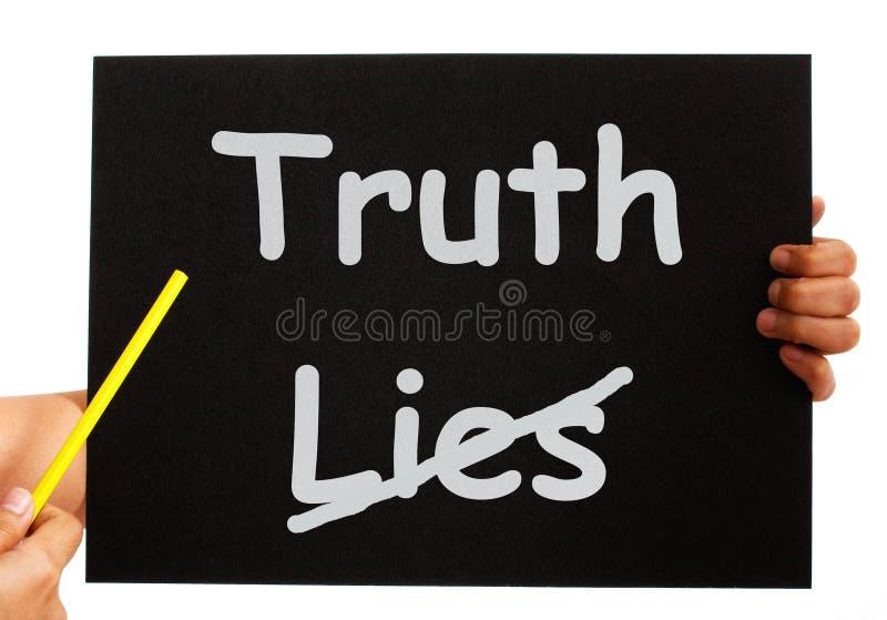 Lögnbrädet för sanning inte visar ärlighet royaltyfri illustrationer