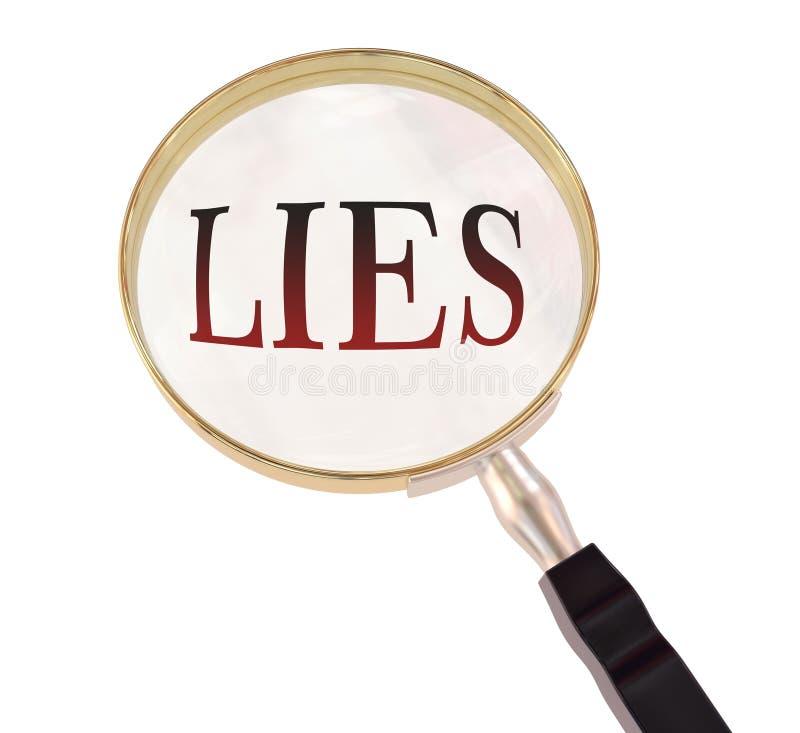 Lögner förstorar vektor illustrationer