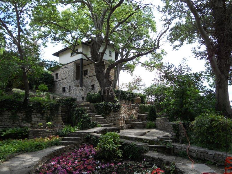 lökformig botanisk trädgård Balchik arkivbilder