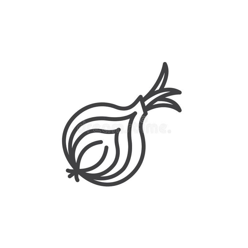 Löklinje symbol, översiktsvektortecken, linjär pictogram som isoleras på vit stock illustrationer