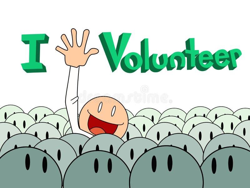 Lönelyften räcker volontären vektor illustrationer