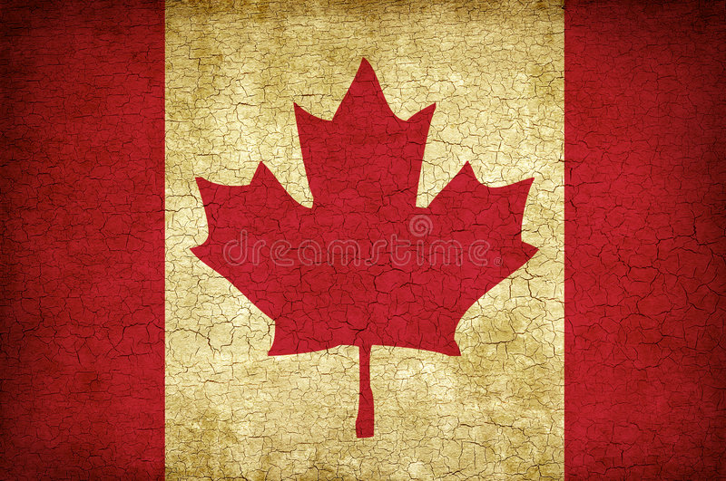 lönn för Kanada flaggaleaf stock illustrationer