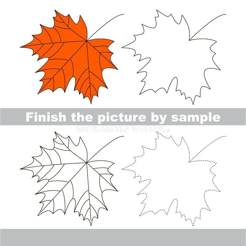 lönn Teckningsarbetssedel stock illustrationer