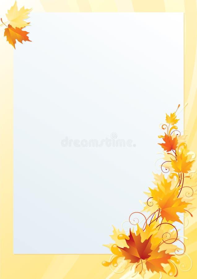Lönnbokstav vektor illustrationer