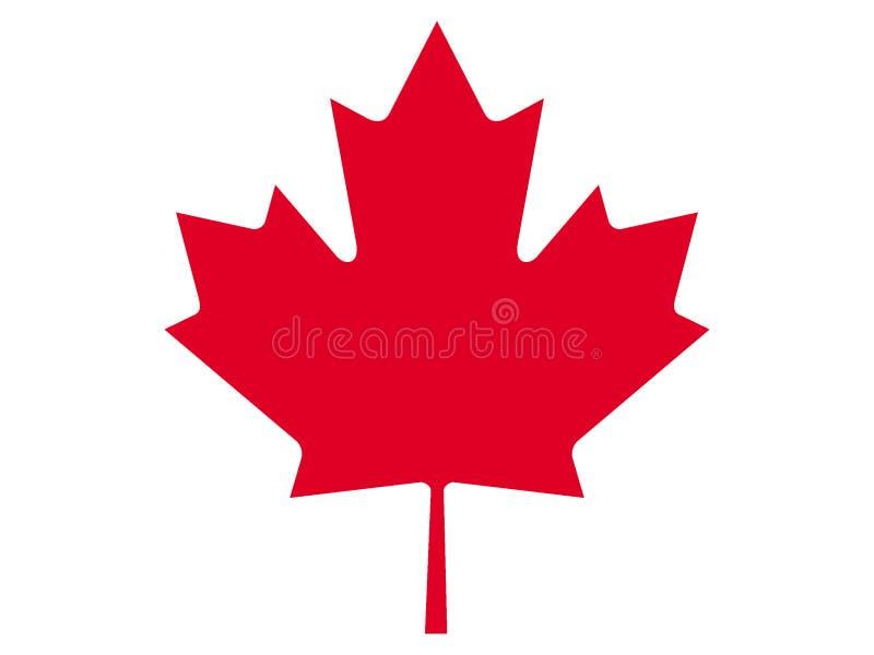 Lönnlöv av Kanada royaltyfri illustrationer