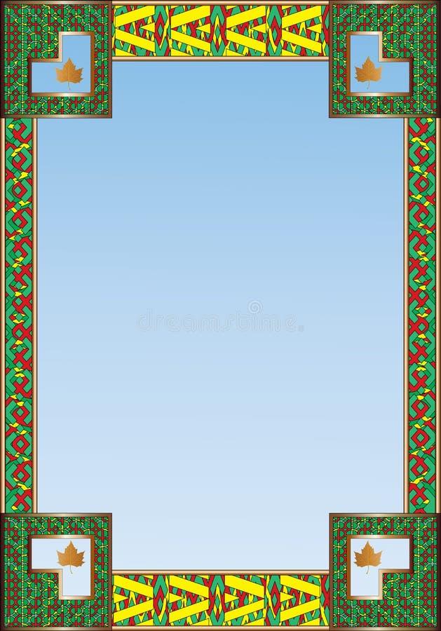 Lönnlöv betonad textgräns vektor illustrationer