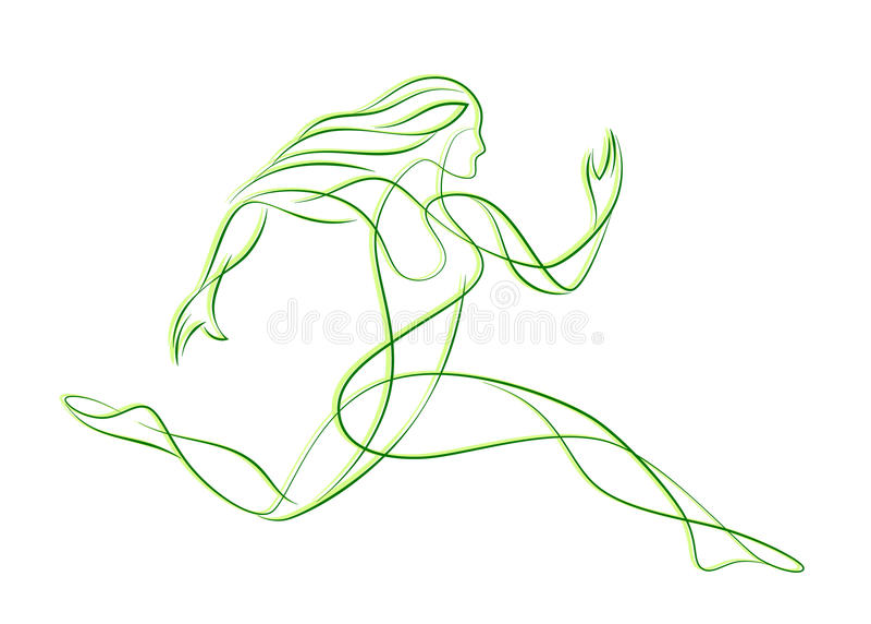 Löpare vektor illustrationer