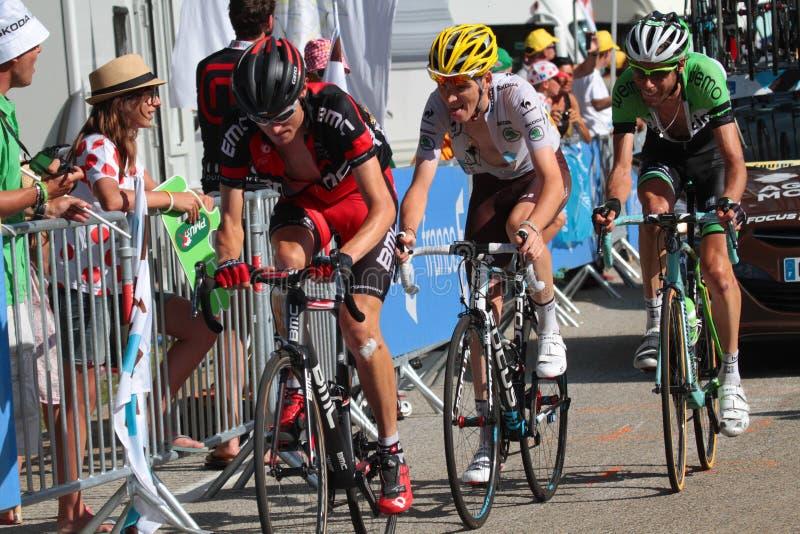 Löpare av Tour de France arkivbilder