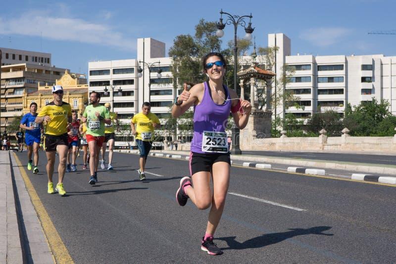 Löpare i ett lopp royaltyfri fotografi