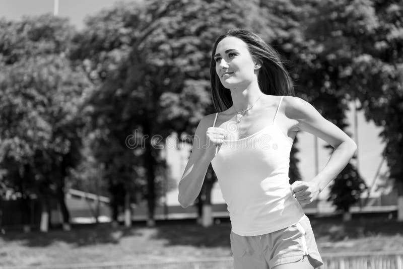 Löpare på konkurrens- och framtidsframgång royaltyfri fotografi