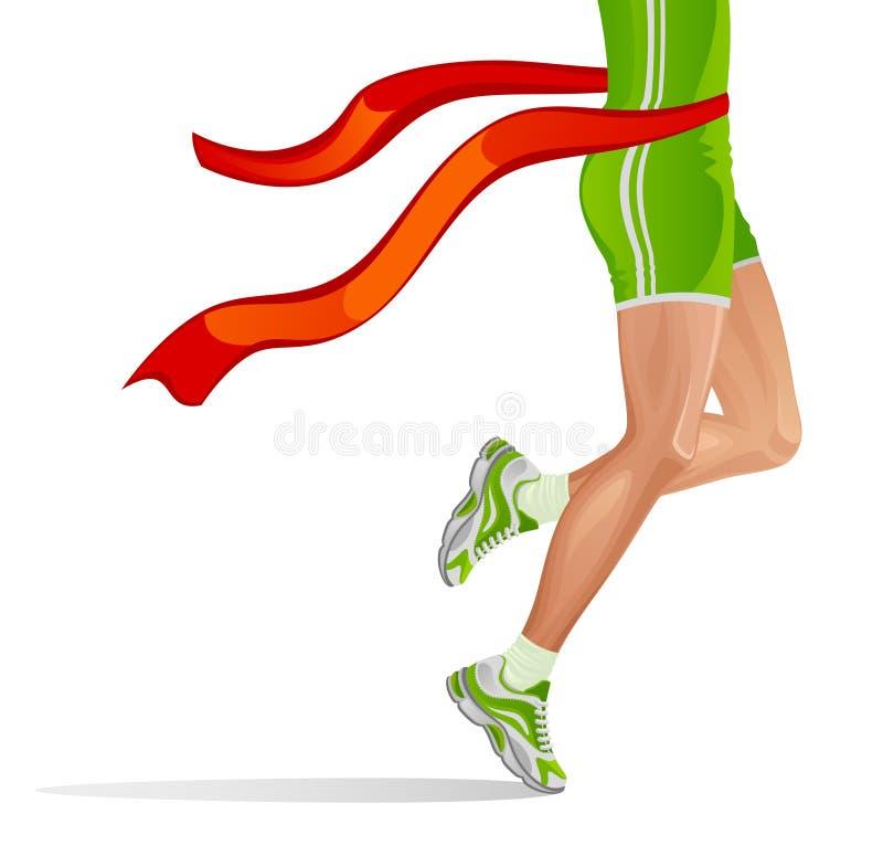 Löparevinnare royaltyfri illustrationer