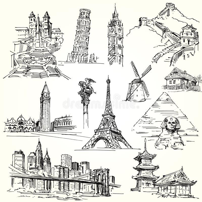 Löper världen vektor illustrationer